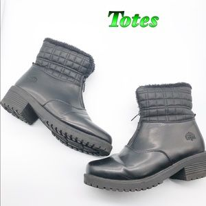 Totes Black all weather Fully Lined boots 9